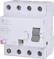 Реле дифференциальное (УЗО) EFI6-4 16/0,03 тип AC (6kA)