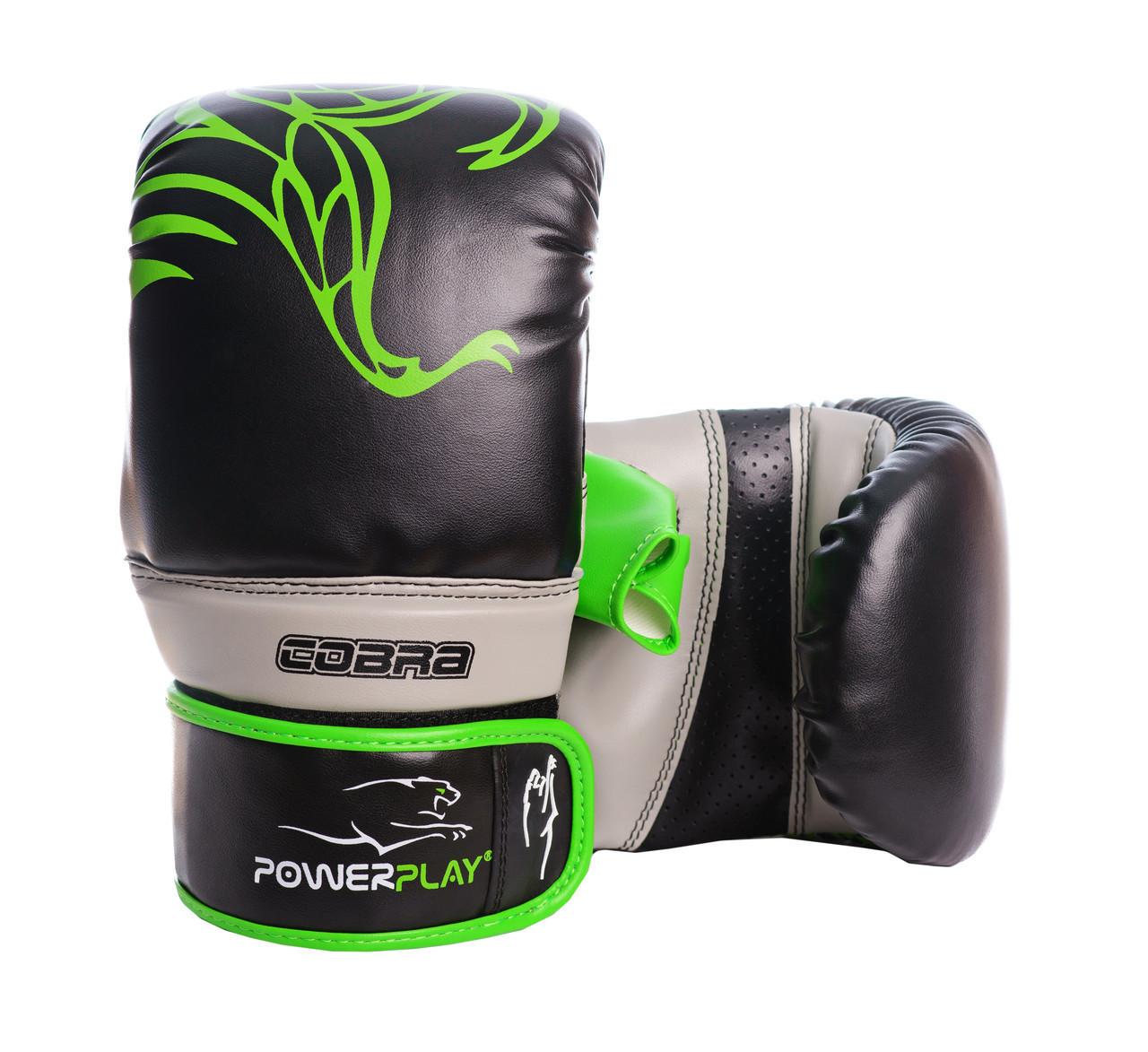Снарядные перчатки PowerPlay 3038 Черно-Зеленые S / M / L / XL