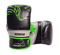 Снарядные перчатки PowerPlay 3038 Черно-Зеленые L