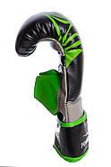 Снарядные перчатки PowerPlay 3038 Черно-Зеленые S / M / L / XL, фото 3