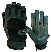 Перчатки для Кроссфита PowerPlay 2076 Черные S M L XL