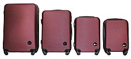 Набор чемоданов 4 штуки в 1 Fly 91240 на 4 колесах Бордовый