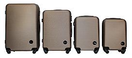 Набор чемоданов 4 штуки в 1 Fly 91240 на 4 колесах Шампань
