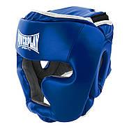 Боксерский шлем тренировочный PowerPlay 3068 PU + Amara Синий XS / S / M, фото 5