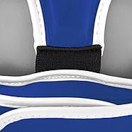 Боксерский шлем тренировочный PowerPlay 3068 PU + Amara Синий XS / S / M, фото 8