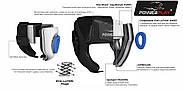 Боксерский шлем тренировочный PowerPlay 3068 PU + Amara Синий XS / S / M, фото 9