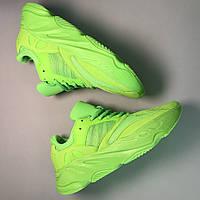 Мужские кроссовки Adidas Yeezy Boost 700 Green Neon салатовые