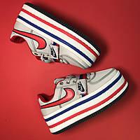 Женские кроссовки Nike Zoom Vandal 2K White Blue (Air Force) серые 36