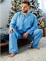 Мужская хлопковая пижама, батальные размеры, Англия