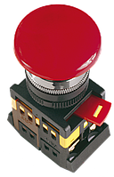 """Кнопка AEAL22 """"Грибок""""с фиксацией красный d22мм 240В 1з+1р ИЭК"""