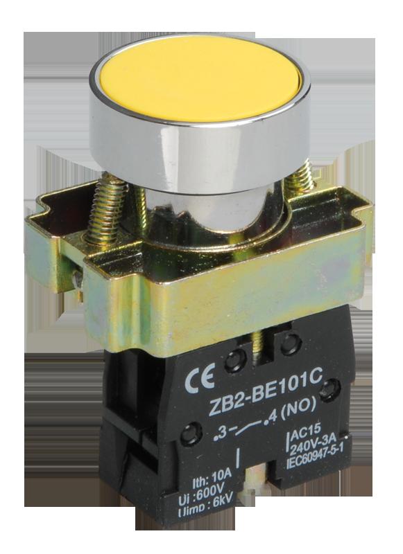 Кнопка управления LAY5-BA51 без подсветки желтая 1з ИЭК
