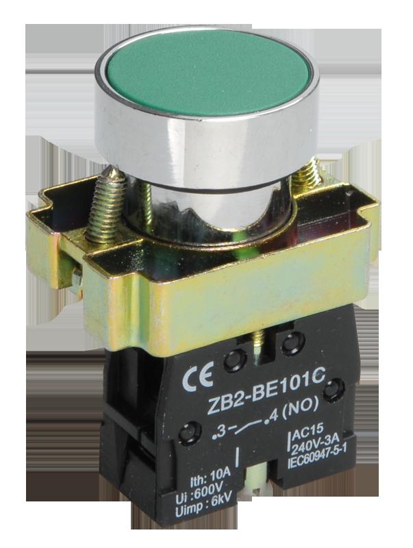 Кнопка управления LAY5-BA31 без подсветки зеленая 1з ИЭК