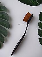 Кисть для макияжа темная с ручкой. 14,5 см