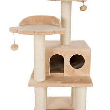 Игровой комплекс для котов с когтеточкой и домиком Legrand Cat бежевый, когтеточка и домик для кота, фото 3