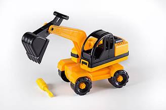 Развивающий конструктор «Экскаватор» Toys Plast (ИП 30004)
