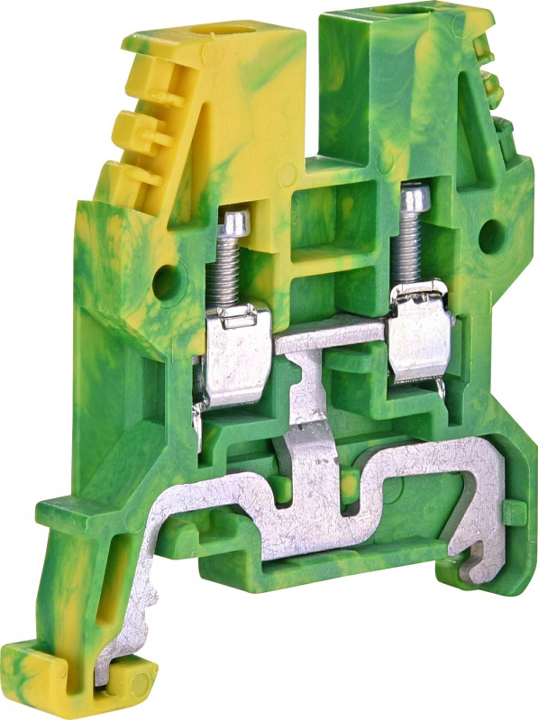 Клемма винтовая заземляющая ESC-TEO.4 (4 мм2, желто-зел.)