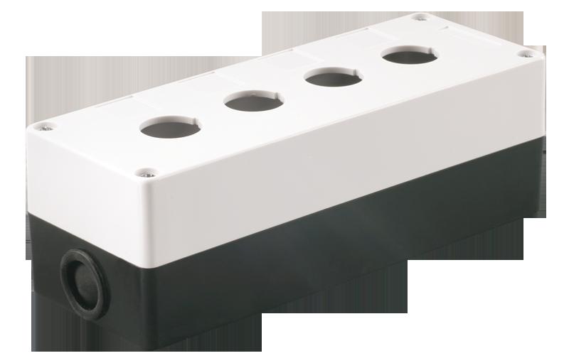 Корпус КП104 для кнопок 4места белый ИЭК