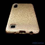 Чехол TPU Shine Samsung A10 gold, фото 2