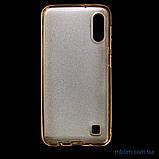 Чехол TPU Shine Samsung A10 gold, фото 3