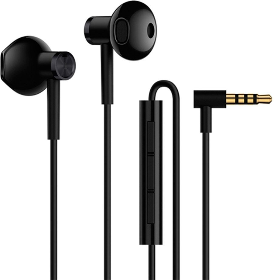 Наушники Xiaomi Mi Dual Drive Earphones Черные (BRE01JY / BLACK)