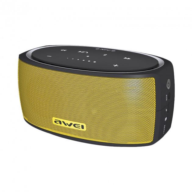Портативная колонка AWEI Y210 Yellow Bluetooth, Micro SD, TF, NFC