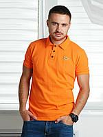 Футболка мужская с логотипом Lacoste, оранжевая