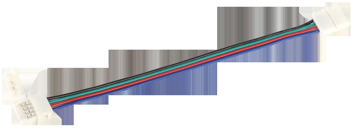 Коннектор 5шт RGB 10 мм (разъем - 15 см - разъем) IEK