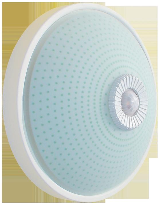 Светильник НПО3237Д белый 2х25 с датчиком движения ИЭК
