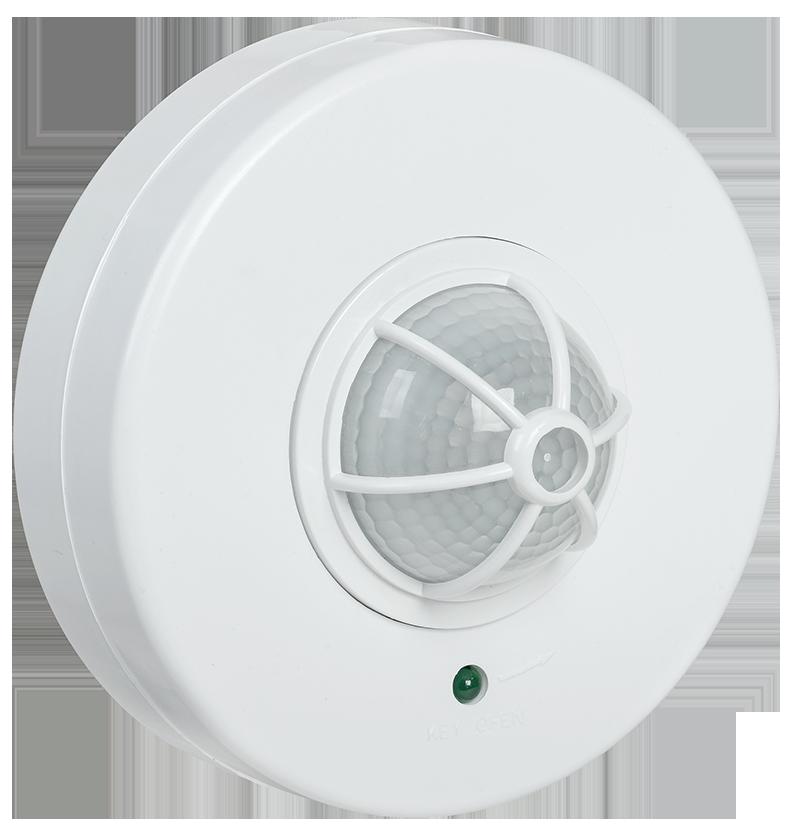 Датчик движения ДД 024 белый, макс. нагрузка 1100Вт, угол обзора 120-360гра, дальность 6м, IP33, ИЭК