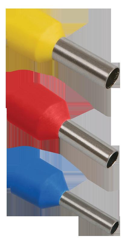 Наконечник-гильза Е2508 2,5мм2 с изолированным фланцем (синий) (100 шт) ИЭК