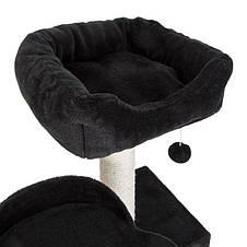 Игровой комплекс для котов с когтеточкой и домиком Legrand Cat черный, когтеточка и домик для кота, фото 3