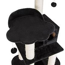 Игровой комплекс для котов с когтеточкой и домиком Legrand Cat черный, когтеточка и домик для кота, фото 2