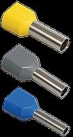 Наконечник-гильза НГИ2 2,5-12 с изолированным фланцем (синий) (100 шт) ИЭК