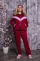Красивый  женский спортивный костюм больших размеров с 48 по 82 размер