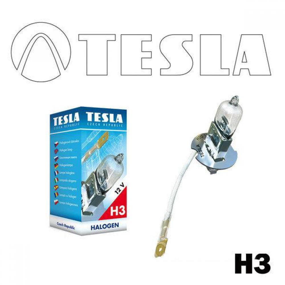 Галогенная лампа Tesla H3 (PK22S) 12V 55W B10301 (1шт.)