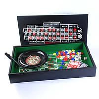 Набор: рулетка, мини покер с фишками