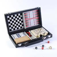 Набор 6 игр: карты,шахматы,шашки,нарды,домино,кости