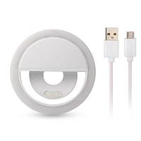 Светодиодное селфи кольцо с USB-зарядкой Selfie Ring Light