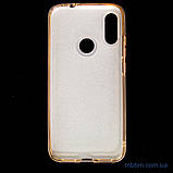 Чехол TPU Shine Xiaomi Redmi Note 7 gold, фото 5