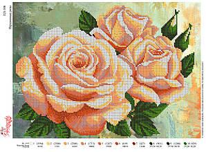Вышивка бисером Персикові троянди №108