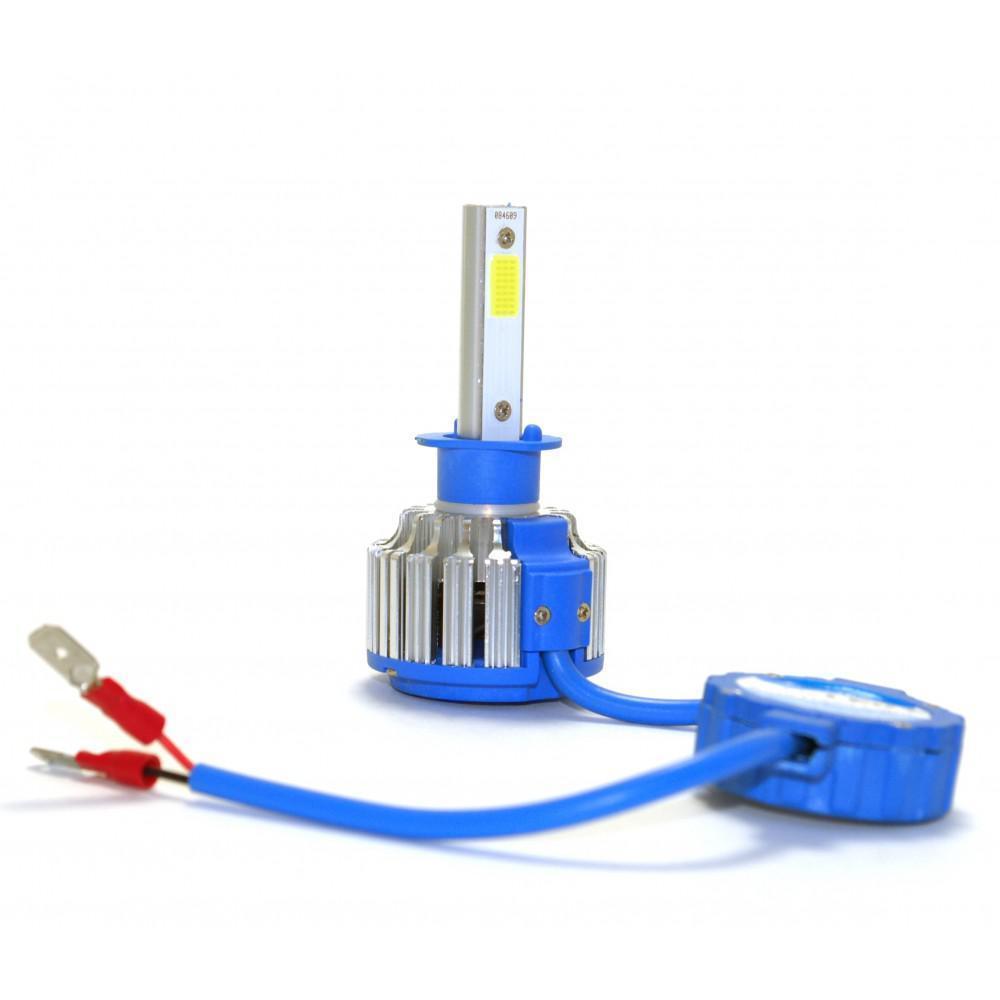 LED лампы SuperLED LedHeadLamp F7 H1 12-24V chip COB вентилятор (2шт)