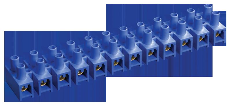 Зажим винтовой ЗВИ-80 н/г 10-25мм2 12пар ИЭК синие