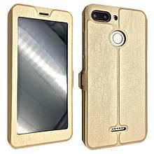 Чехол-книжка DK-Case кожа на пластике Flip Cover Magnetic для Xiaomi Redmi 6 (gold)