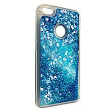 Чехол-накладка DK-Case силикон Аквариум Сердечки для Xiaomi Redmi Note 5A Prime (blue)