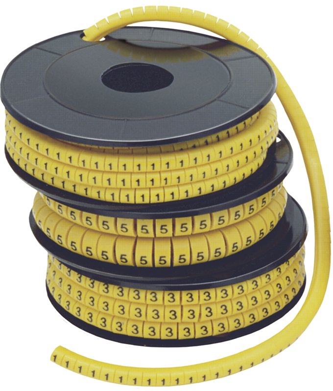 """Маркер МК1- 2,5мм символ """"1"""" 1000шт/упак ИЭК"""