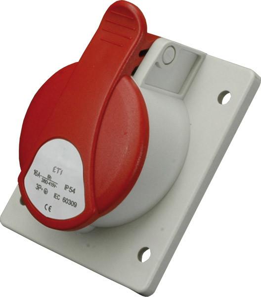 Розетка вбудована EE-3253 IP54 (32A, 400V, 3P+N+PE)