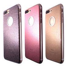 Чехол-накладка силикон Magic окошко под лого для Apple iPhone 7/8 Plus (grey)