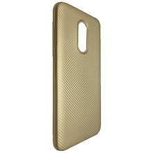 Чехол-накладка DK-Case силикон Carbon для Xiaomi Redmi 5 Plus (gold)