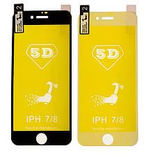 Защитная пленка 5D for Apple iPhone 7/8  (black)