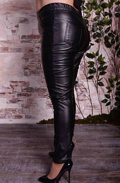 Модные женские брюки с эко кожи больших размеров с 48 по 98, фото 2